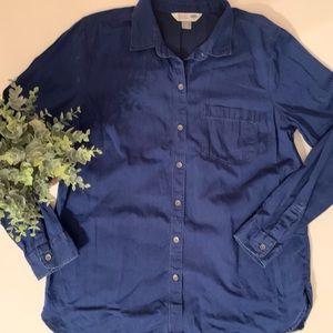 Perfect denim French blue layering shirt L